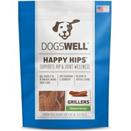 Dogswell Happy Hips Grillers Chicken Recipe Dog Treats, 15-oz bag