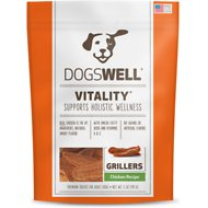 Dogswell Vitality Grillers Chicken Recipe Dog Treats, 5-oz bag