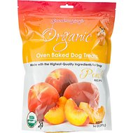 Grandma Lucy's Organic Peach Oven Baked Dog Treats, 14-oz bag