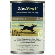 ZiwiPeak Daily-Dog Beef Cuisine Grain-Free Canned Dog Food, 13-oz, case of 12