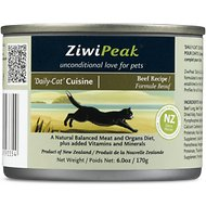 ZiwiPeak Daily-Cat Beef Grain-Free Canned Cat Food, 6-oz, case of 12