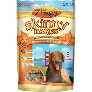 Zuke's Skinny Bakes Pumpkin & Sweet Potato Crunch Dog Treats, 12-oz bag
