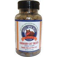 Grizzly Super Treats Oven Baked Grain-Free Omega-3 Support Cat Treats, 3-oz bottle