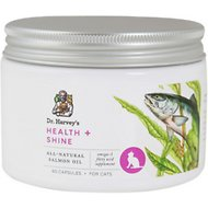 Dr. Harvey's Health & Shine Salmon Oil Cat Supplement, 60 capsules