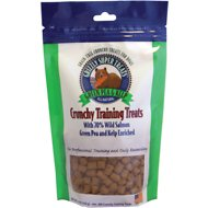 Grizzly Wild Salmon, Green Pea & Kelp Grain-Free Crunchy Training Dog Treats, 5-oz bag