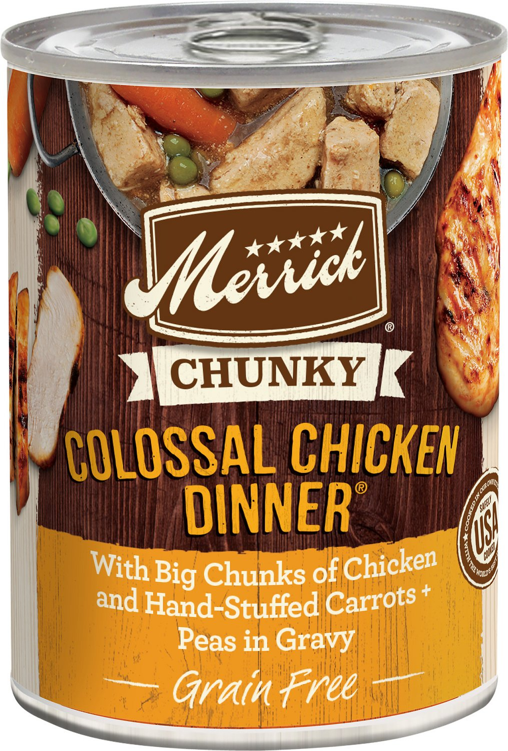 Merrick chunky grain free colossal chicken dinner canned dog food merrick chunky grain free colossal chicken dinner canned dog food 127 oz case of 12 chewy forumfinder Choice Image
