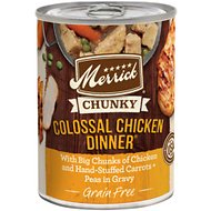 Merrick Chunky Grain-Free Colossal Chicken Dinner Canned Dog Food, 12.7-oz, case of 12