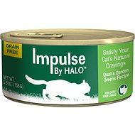 Halo Impulse Quail & Garden Greens Recipe Grain-Free Canned Cat Food, 5.5-oz, case of 12