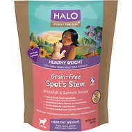 Halo Spot's Stew Healthy Weight Grain-Free Whitefish & Salmon Recipe Toy & Small Breed Adult Dry Dog Food, 10-lb bag