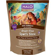 Halo Spot's Stew Pork, Peas & Potatoes Recipe Grain-Free Dry Dog Food, 4-lb bag