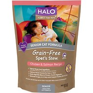Halo Spot's Stew Chicken & Salmon Recipe Grain-Free Senior Dry Cat Food, 6-lb bag
