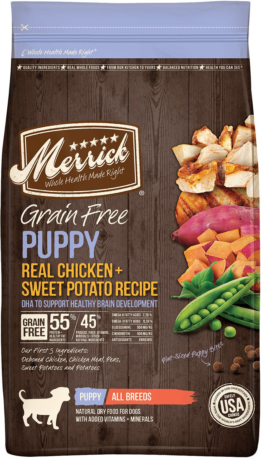 Merrick Grain Free Puppy Recipe Dry Dog Food 25 Lb Bag