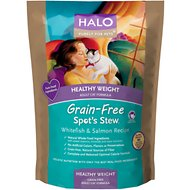 Halo Spot's Stew Healthy Weight Grain-Free Whitefish & Salmon Recipe Adult Dry Cat Food, 11.5-lb bag