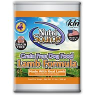 NutriSource Grain-Free Lamb Formula Canned Dog Food, 13-oz, case of 12