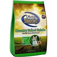 NutriSource Grain-Free Country Select Entree Dry Cat Food, 15-lb bag