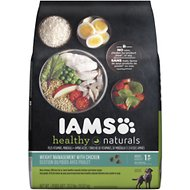 Iams Healthy Naturals Weight Management with Chicken Adult Dry Dog Food, 23.2-lb bag