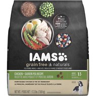 Iams Grain-Free Naturals Chicken & Garden Pea Recipe Adult Dry Dog Food, 17.2-lb bag
