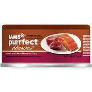 Iams Purrfect Delicacies Roasted Beef & Salmon Dinner in Gravy Canned Cat Food, 2.47-oz, case of 24