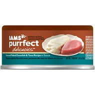 Iams Purrfect Delicacies Featured Flaked Oceanfish & Tuna Recipe in Sauce Canned Cat Food, 2.47-oz, case of 24