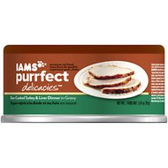 Iams Purrfect Delicacies Slow-Cooked Turkey & Liver Dinner in Gravy Canned Cat Food, 2.47-oz, case of 24