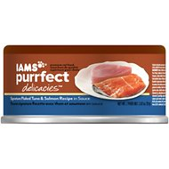 Iams Purrfect Delicacies Signature Flaked Tuna & Salmon Recipe in Sauce Canned Cat Food, 2.47-oz, case of 24