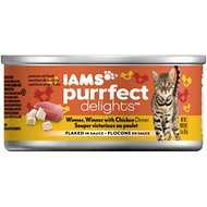 Iams Purrfect Delights Winner Winner with Chicken Dinner Flaked in Sauce Canned Cat Food, 3-oz, case of 24