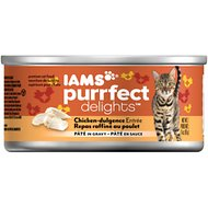 Iams Purrfect Delights Chicken-dulgence Entree Pate in Gravy Canned Cat Food, 3-oz, case of 24