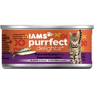 Iams Purrfect Delights Packed with Sardines Dinner Flaked in Sauce Canned Cat Food, 3-oz, case of 24