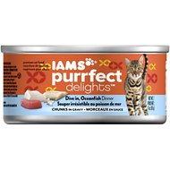 Iams Purrfect Delights Dive In, Oceanfish Dinner Chunks in Gravy Canned Cat Food, 3-oz, case of 24