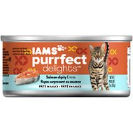 Iams Purrfect Delights Salmon-dipity Entree Pate in Sauce Canned Cat Food, 3-oz, case of 24