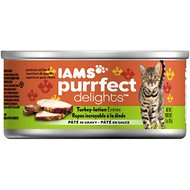 Iams Purrfect Delights Turkey-lation Entree Pate in Gravy Canned Cat Food, 3-oz, case of 24