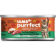 Iams Purrfect Delights Tuna-Turkey Tango Entree Pate in Gravy Canned Cat Food, 3-oz, case of 24