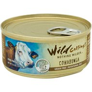 Wild Calling Cowabunga 96% Beef Grain-Free Adult Canned Cat Food, 5.5-oz, case of 24