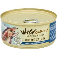 Wild Calling Jumping Salmon 96% Salmon Grain-Free Adult Canned Cat Food, 5.5-oz, case of 24