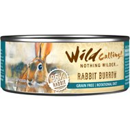 Wild Calling Rabbit Burrow 96% Rabbit Grain-Free Adult Canned Cat Food, 5.5-oz, case of 24