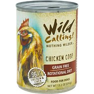 Wild Calling Chicken Coop 96% Chicken Grain-Free Adult Canned Dog Food, 13-oz, case of 12