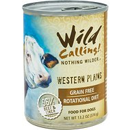 Wild Calling Western Plains Beef Recipe Grain-Free Adult Canned Dog Food, 13-oz, case of 12