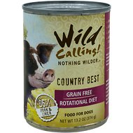 Wild Calling Country Best 96% Pork Grain-Free Adult Canned Dog Food, 13-oz, case of 12