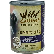Wild Calling Shepherd's Choice 96% Lamb Grain-Free Adult Canned Dog Food, 13-oz, case of 12