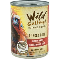 Wild Calling Turkey Trot 96% Turkey Grain-Free Adult Canned Dog Food, 13-oz, case of 12