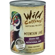 Wild Calling Mountain Lake 96% Duck Grain-Free Adult Canned Dog Food, 13-oz, case of 12