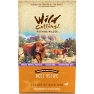 Wild Calling Western Plains Stampede Beef Recipe Grain-Free Dry Dog Food, 4.5-lb bag