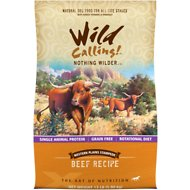 Wild Calling Western Plains Stampede Beef Recipe Grain-Free Dry Dog Food, 13-lb bag