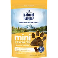 Natural Balance Mini-Rewards Duck Formula Dog Treats, 4-oz bag