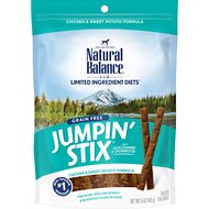 Natural Balance L.I.T. Limited Ingredient Treats Jumpin' Stix Chicken & Sweet Potato Formula Dog Treats, 5-oz bag