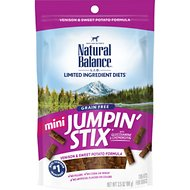 Natural Balance L.I.T. Limited Ingredient Treats Mini Jumpin' Stix Venison & Sweet Potato Formula Dog Treats, 3.5-oz bag
