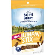 Natural Balance L.I.T. Limited Ingredient Treats Mini Jumpin' Stix Duck & Potato Formula Dog Treats, 4-oz bag
