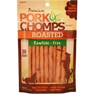 Premium Pork Chomps Roasted Twists Dog Treats, Small, 20 count bag