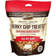 Merrick Jerky Chip Treats Real Beef Recipe Grain-Free Dog Treats, 10-oz bag
