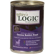 Nature's Logic Canine Rabbit Feast Grain-Free Canned Dog Food, 13.2-oz, case of 12
